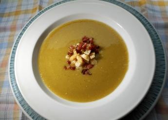 Erbsenpüreesuppe (Rezept)