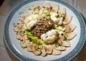 Carpaccio vom Hühnerfleisch und Linsensalar (Rezept)